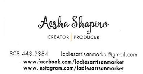 Capture of Aesha Shapiro Business Card.J