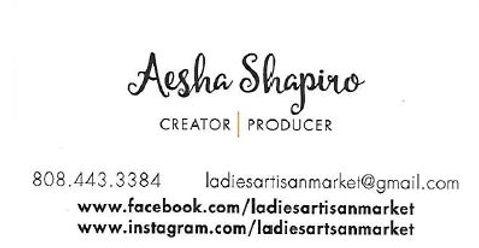 Capture of Aesha Shapiro Business Card.J
