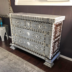 Syrian mother of pearl inlay commode