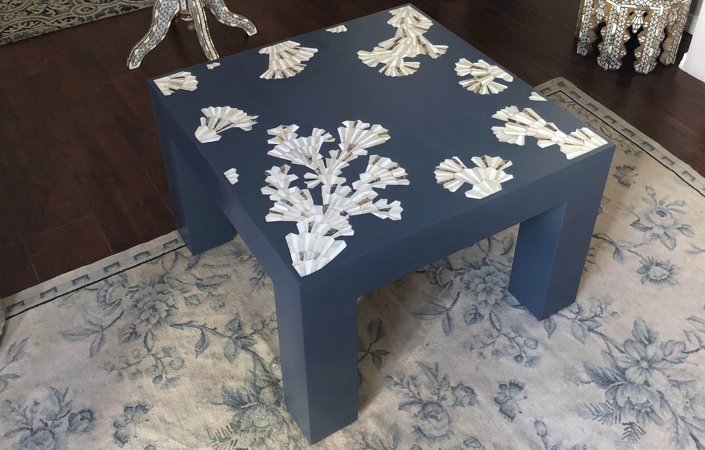 Modern Mother of pearl coffee table