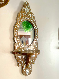 Wall mother of pearl inlaid brackets