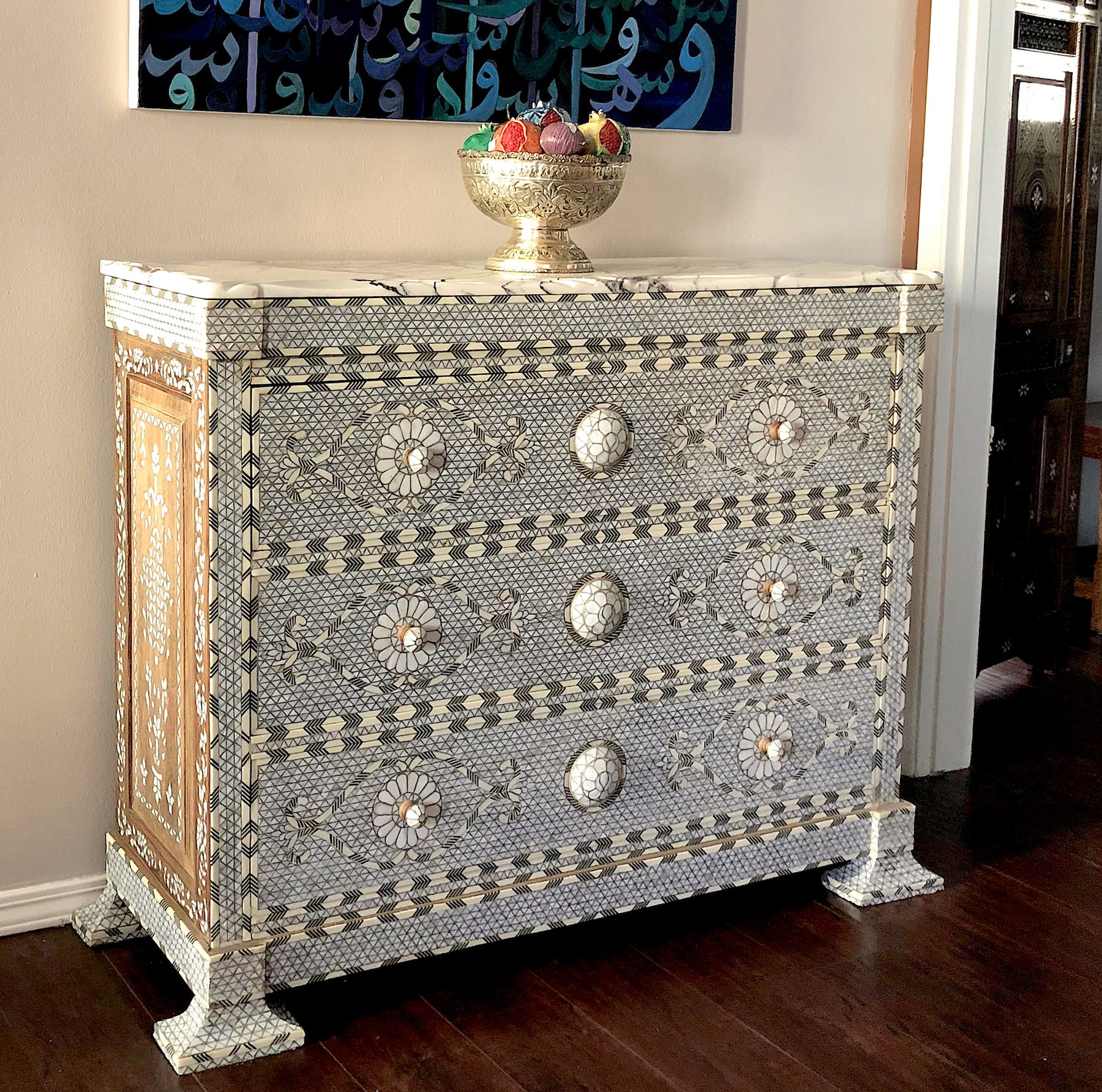 Syrian mother of pearl inlaycommode