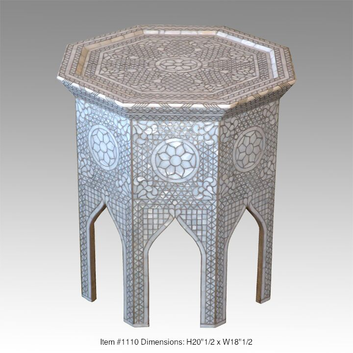 Octagon Moroccan style side table