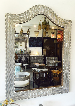Syrian mother of pearl inlaid mirror