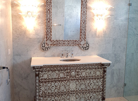 Syrian bathroom vanity & mirror