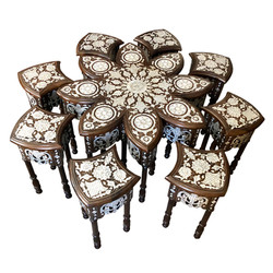Mother of pearl inlaid Syrian coffee table