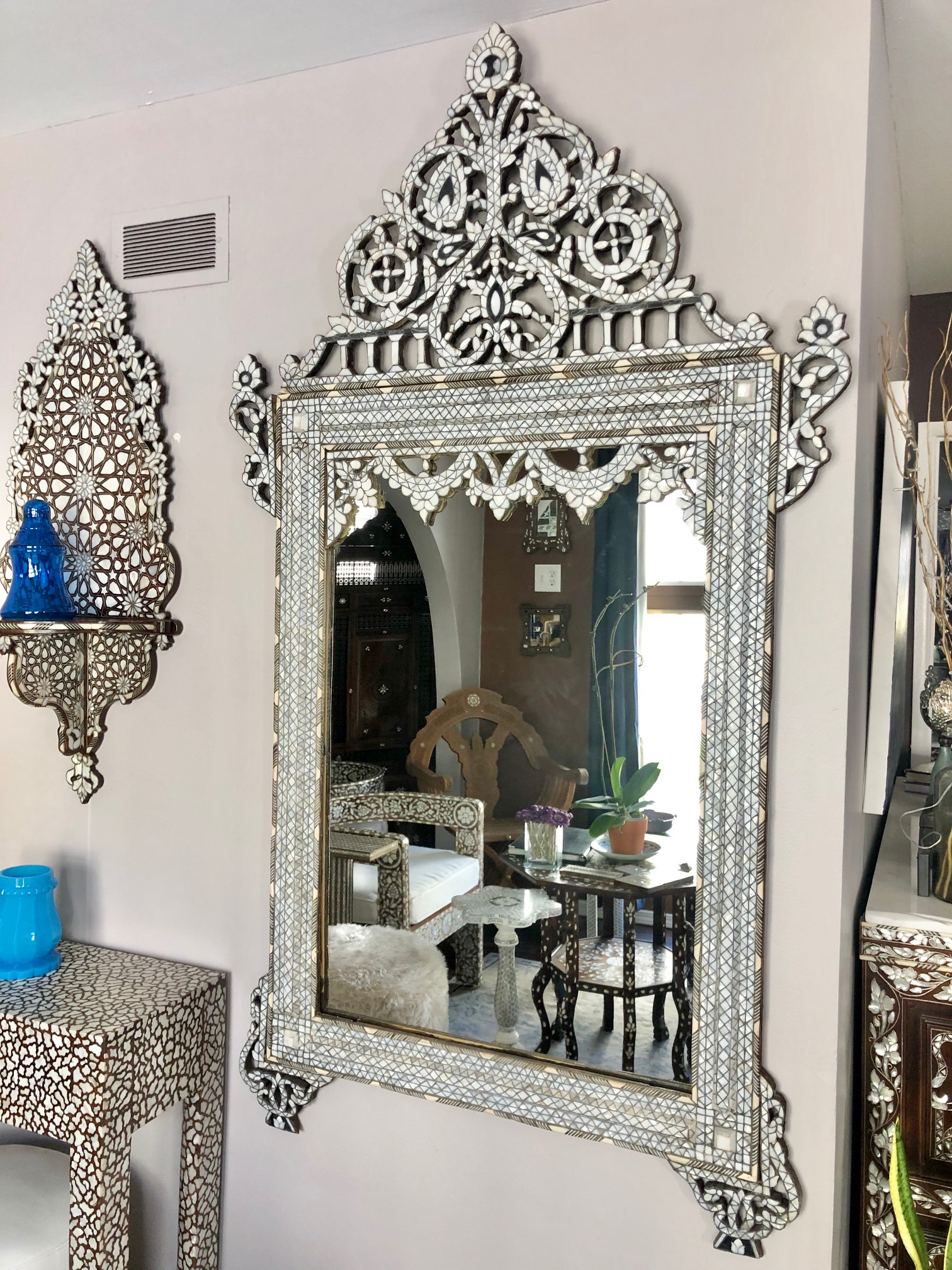 Antique Syrian mirror