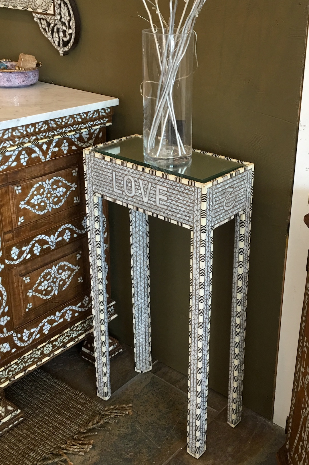 Syrian mother of pearl table