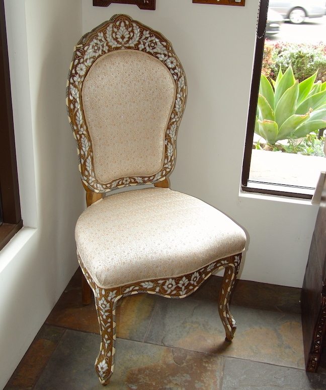 Mother of pearl inlaid Syrian chair
