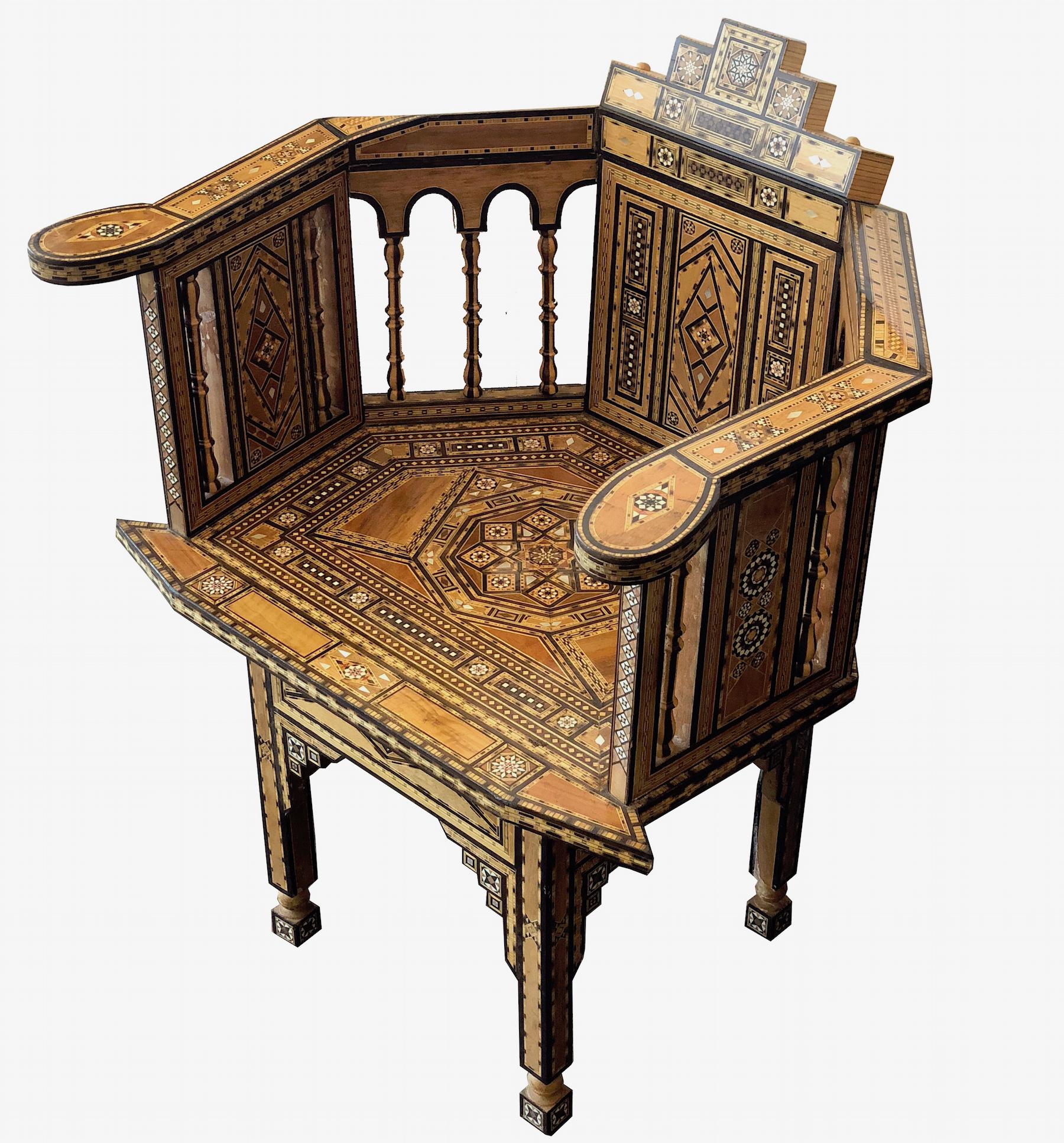 Antique Moorish style chair