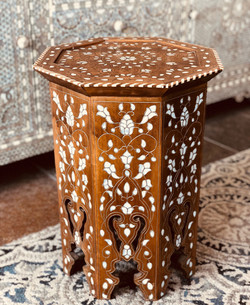 Antique mother of pearl table