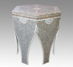 Mother of Pearl hexagon style Table