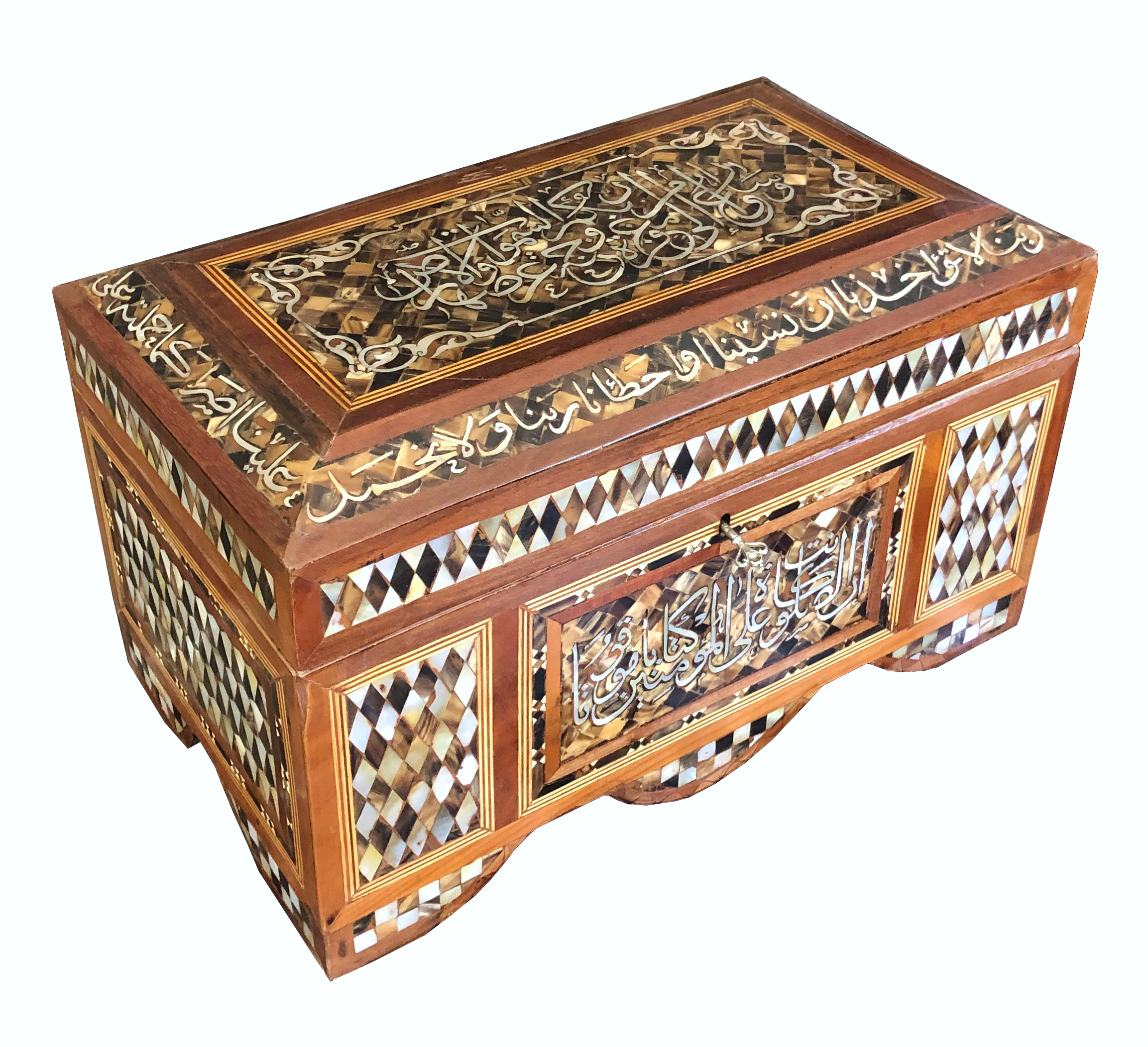 Antique mother of pearl inlaid chest