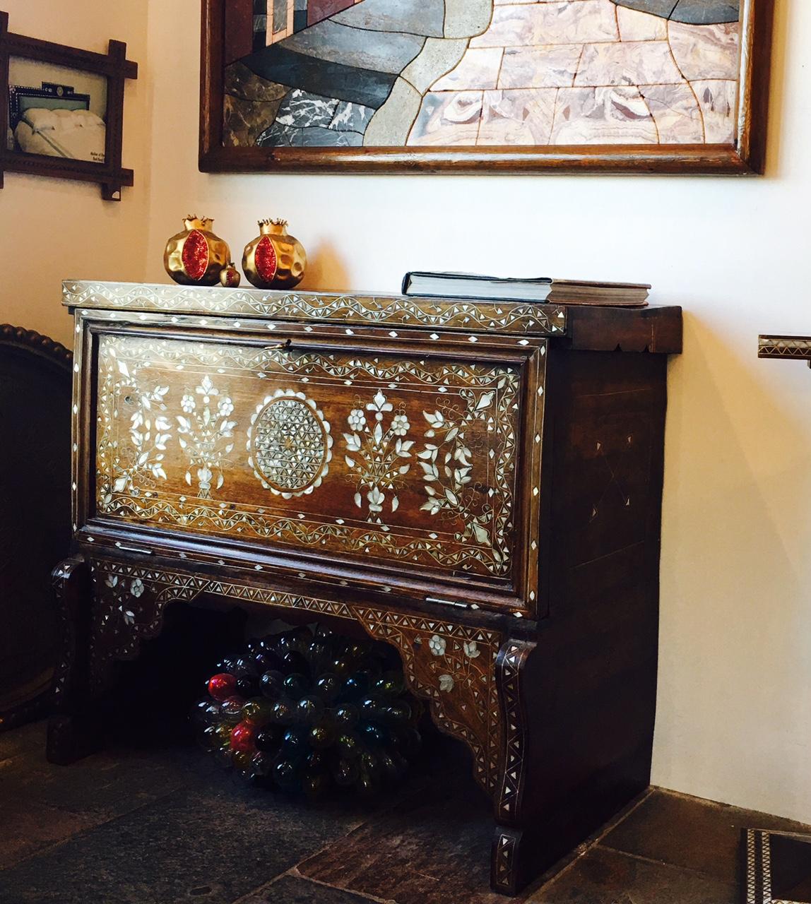 Antique Syrian bridal chest