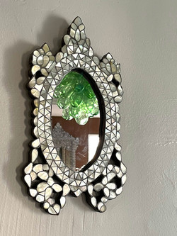 Small vintage Syrian mirror