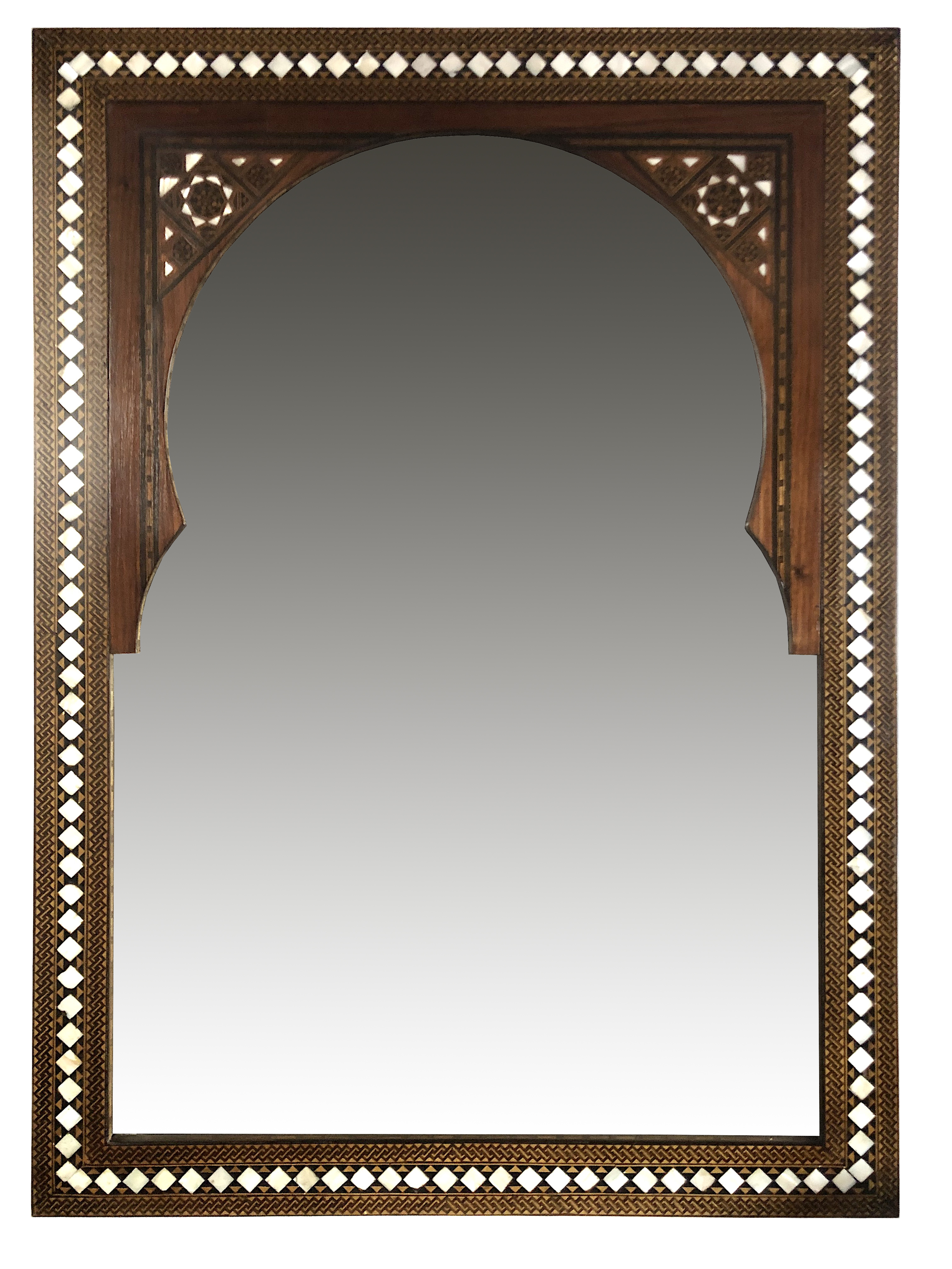 Vintage mosaic Syrian mirror