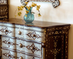 Mother of pearl inlaid commode