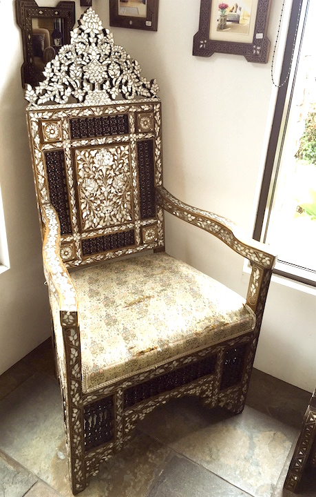 Antique Syrian chair