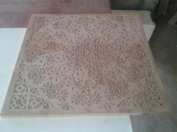 Hand carved wood before any inlay