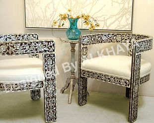 Syrian Chair | Moroccan Chair | Mother Of Pearl Inlay Chairs