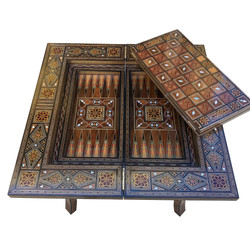 Syrian folding game table