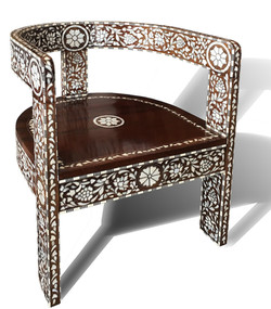 Syrian Mother of pearl inlaid chair