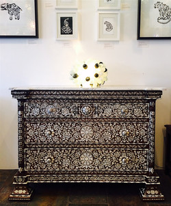 Syrian mother of pearl commode