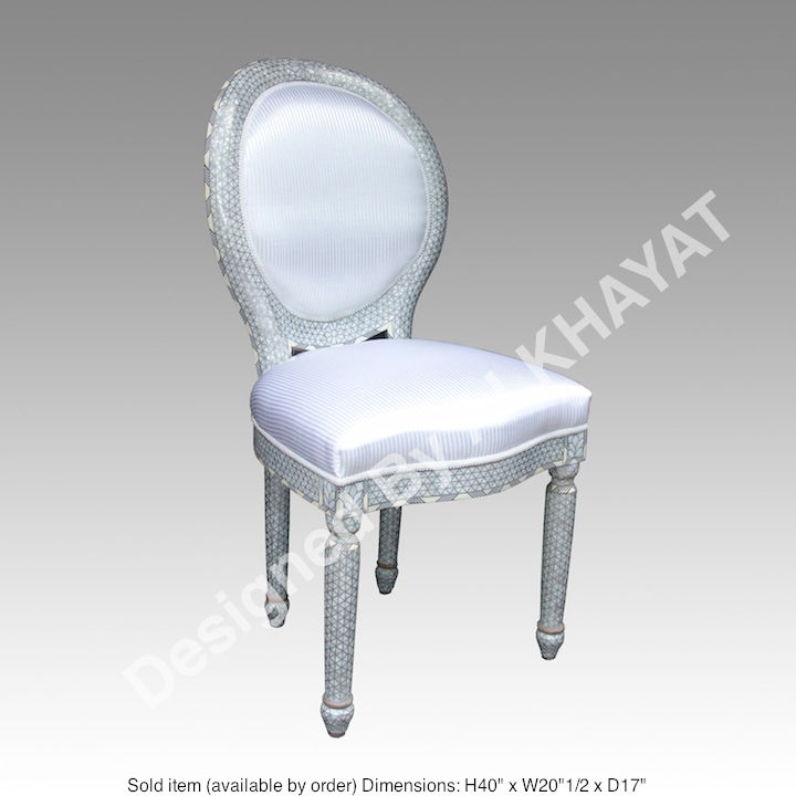 Mother of pearl inlay chair