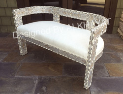 Mother of pearl inlay love seat
