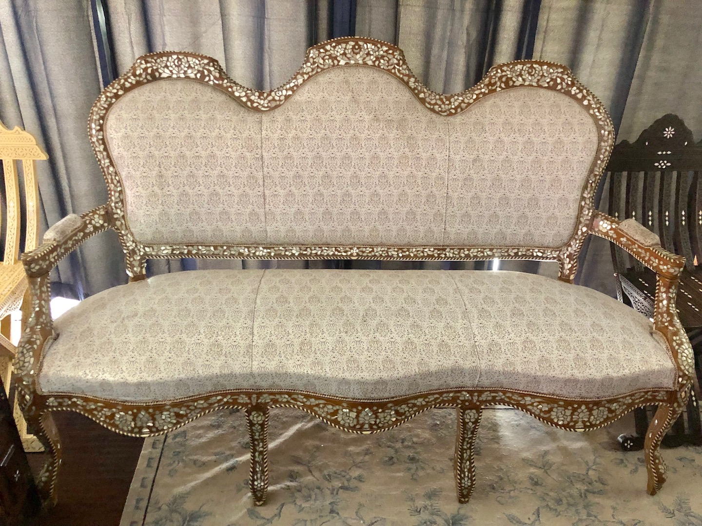Antique Mother of pearl inlay sofa