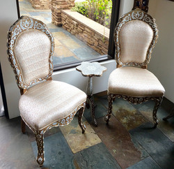 Mother of pearl inlaid Syrian chairs