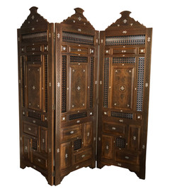 Hand carved Syrian screen