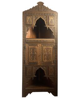 Hand carved Moorish style cabinet