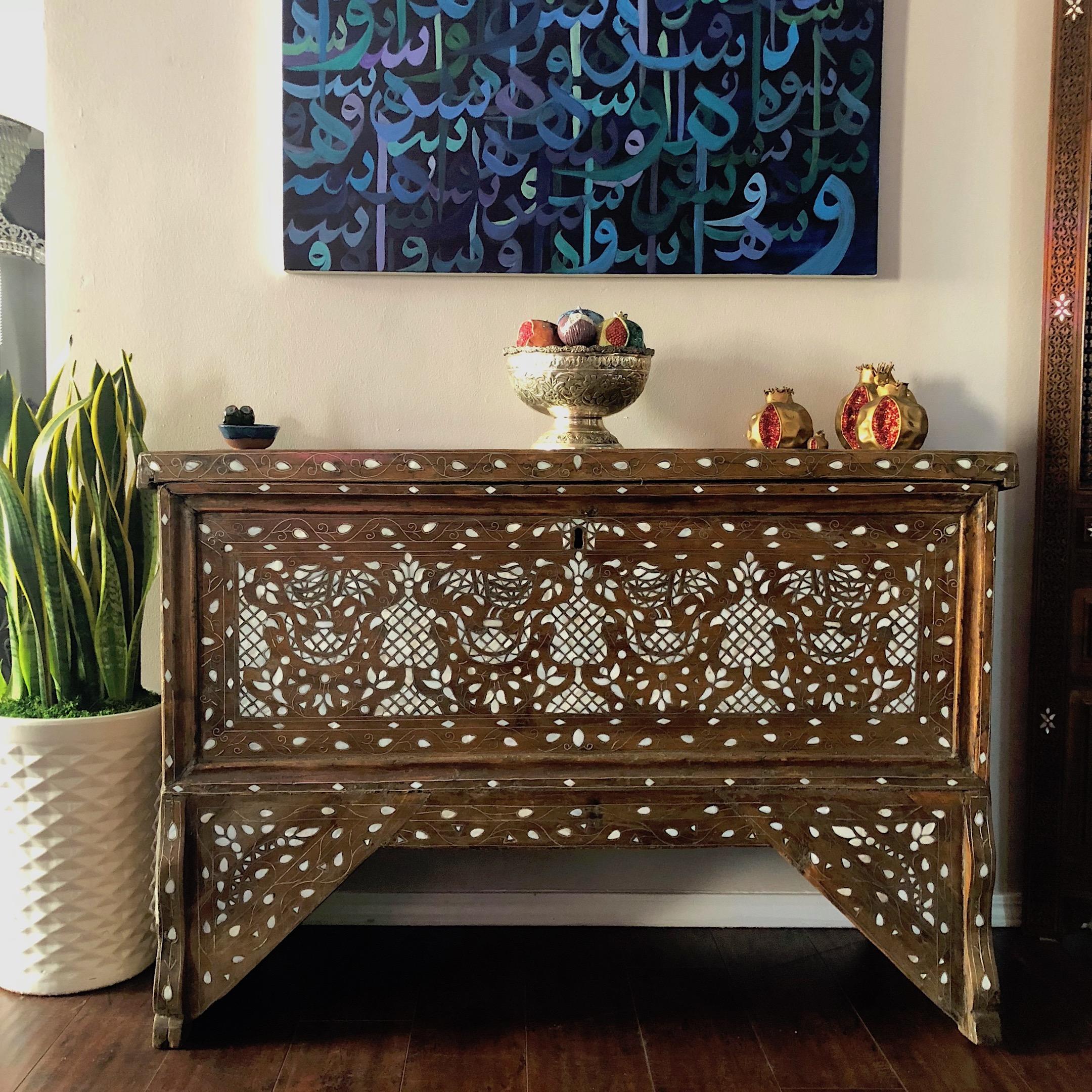 Antique Syrian wedding chest