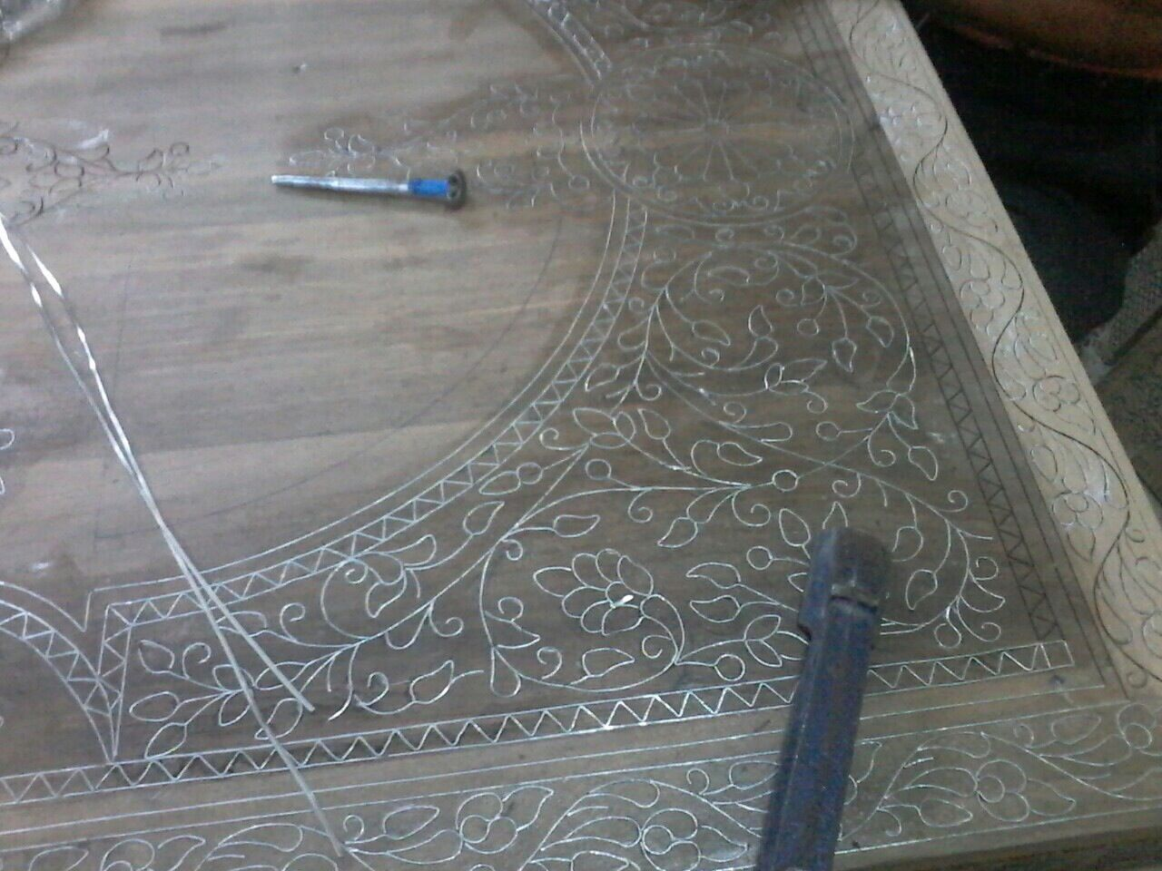 Silver inlay
