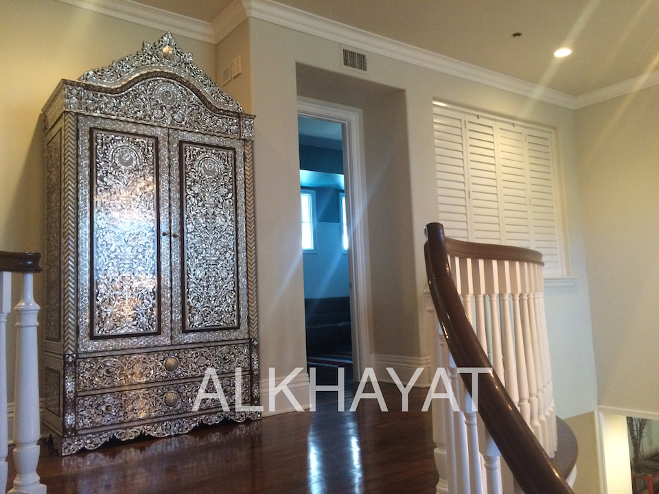 Syrian mother of pearl armoire
