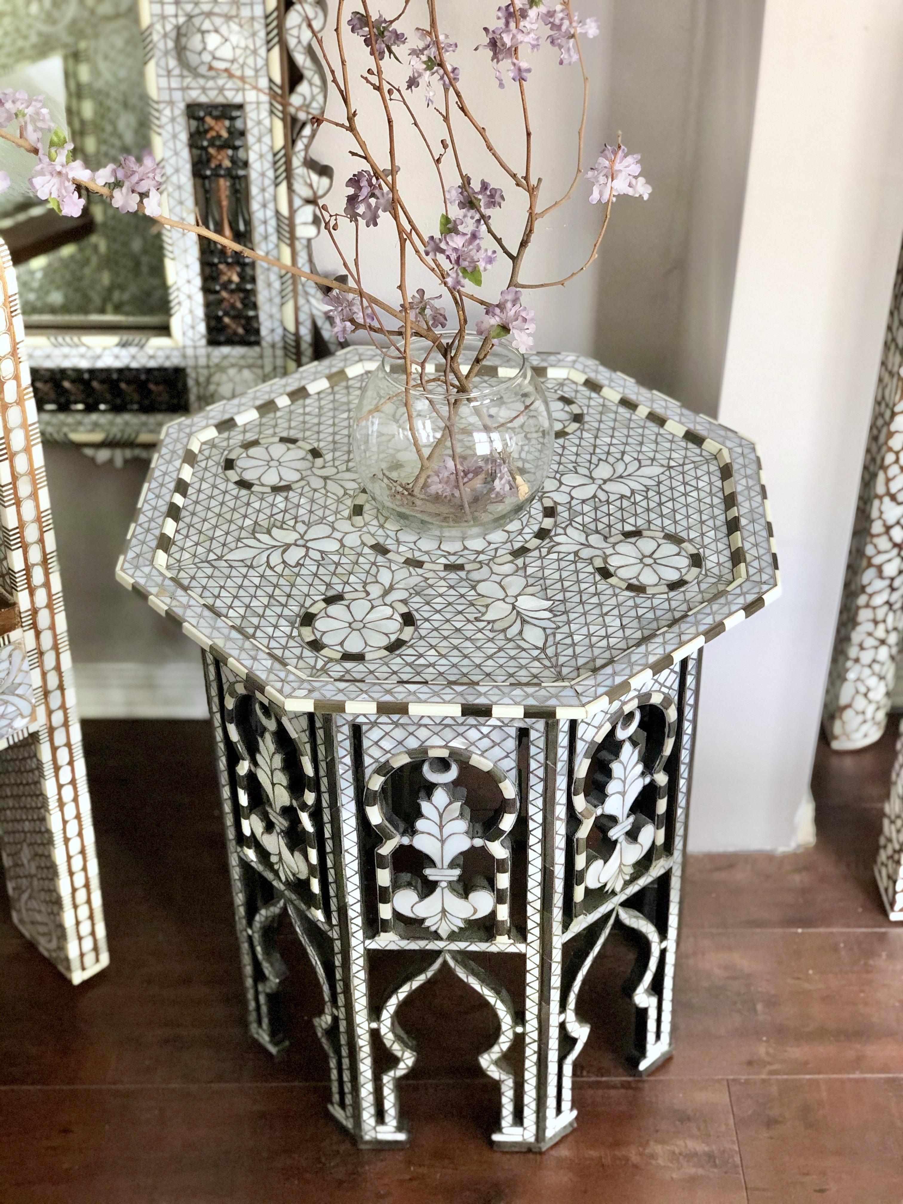 Octagonal Syrian table