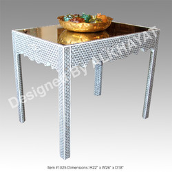 Mother of pearl inlaid table