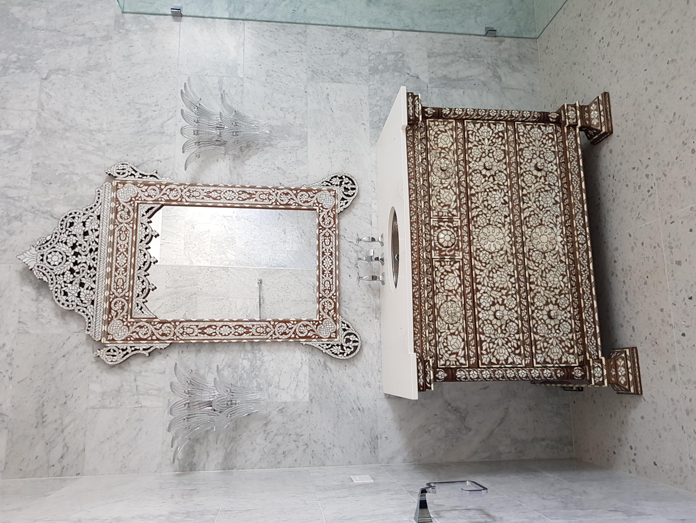 Syrian bathroom vanity & mirror