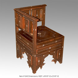 Hand carved corner chair