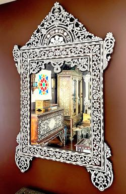 Ornate Syrian mirror