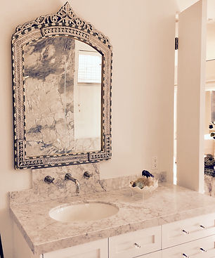 Mother Of Pearl Inlay Syrian Mirror Master Bathroom Mirrors Item 1732 H46 5 X W30 1 Available