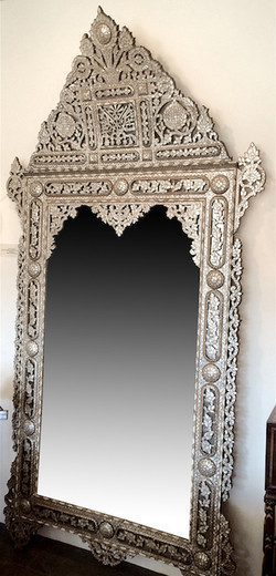 Antique mother or pearl inlay mirror
