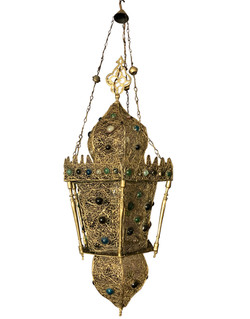 Antique Moorish style lantern