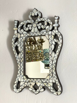 Small vintage mother of pearl mirror
