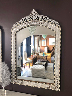 Mother of pearl Syrian mirror