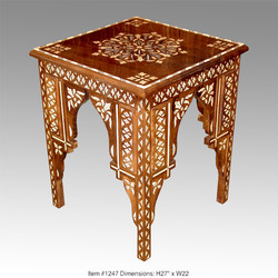 Camel bone inlay table