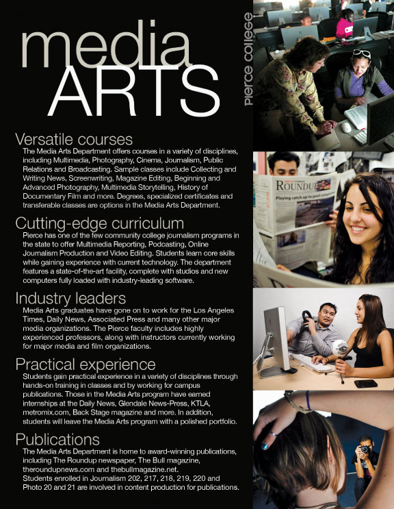 Pierce College Media Arts Brochure