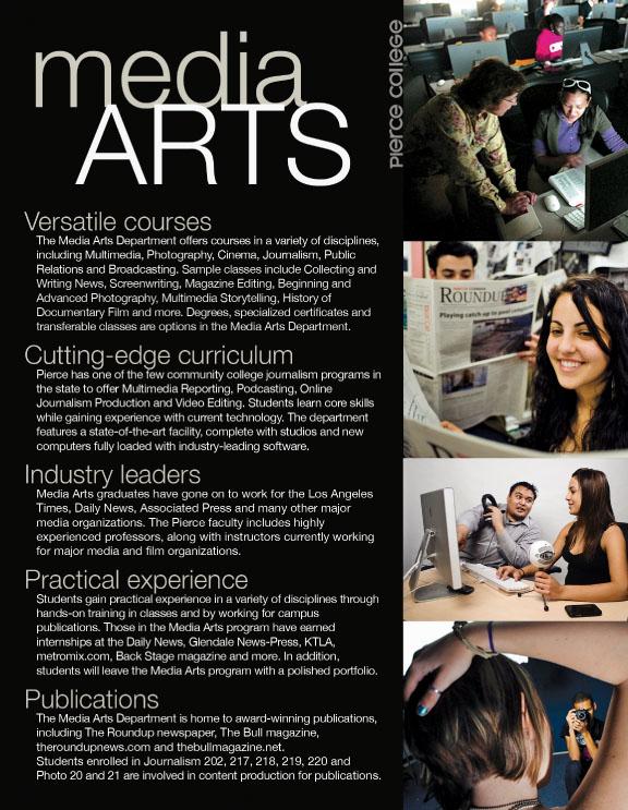 Pierce College Media Arts Brochure