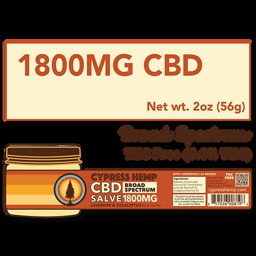 Max Strength 1800mg CBD Lavender and Eucalyptus Salve
